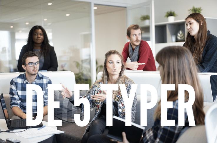 De 5 typer der altid ødelægger dit interne møde